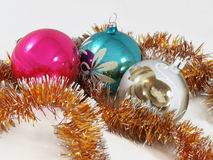 Christmas fir tree toys ball Stock Photo