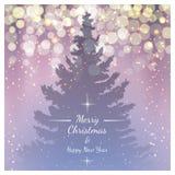 Christmas fir tree, vector background, eps10. Royalty Free Stock Photos