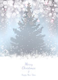 Christmas fir tree, vector background, eps10. Royalty Free Stock Photography