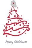 Christmas fir-tree . Vector Illustration. Decorated Christmas fir-tree for the New Year for your congratulations. Vector Illustration Royalty Free Stock Images