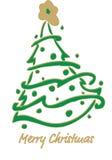Christmas fir-tree . Vector Illustration. Decorated Christmas fir-tree for the New Year for your congratulations. Vector Illustration Royalty Free Stock Photos