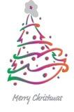 Christmas fir-tree . Vector Illustration. Decorated Christmas fir-tree for the New Year for your congratulations. Vector Illustration Stock Photography