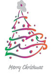 Christmas fir-tree . Vector Illustration. Decorated Christmas fir-tree for the New Year for your congratulations. Vector Illustration Stock Images