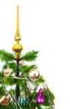 Christmas fir tree on white background Stock Photos