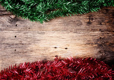 Christmas fir tree on a wooden Stock Image