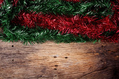 Christmas fir tree on a wooden Royalty Free Stock Images