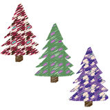 Christmas fir trees. Set of stylized christmas fir trees Royalty Free Stock Photos