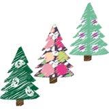 Christmas fir trees. Set of stylized christmas fir trees Vector Illustration