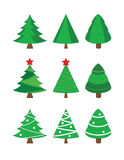 Christmas fir trees. Collection illustration Royalty Free Stock Image