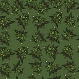Christmas fir trees seamless pattern Stock Photo