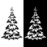 Christmas Fir Tree Pictograms Stock Photos