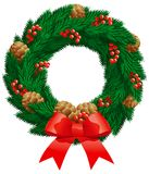 Christmas fir wreath Stock Images