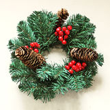 Christmas fir wreath Royalty Free Stock Photo