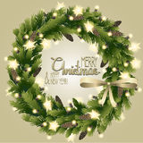 Christmas fir wreath Royalty Free Stock Image