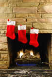 Christmas Fire Royalty Free Stock Photos