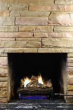 Christmas Fire Stock Photo