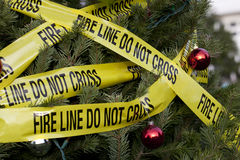 Christmas Fire Hazard Stock Images