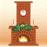 Christmas Fireplace Stock Photos