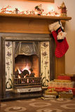 Christmas fireplace Stock Photo