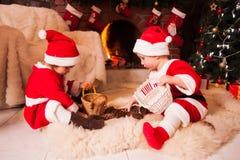 Christmas fireplace Royalty Free Stock Image