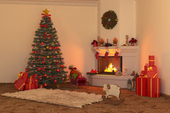 Christmas fireplace 2 Royalty Free Stock Photo