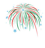 Christmas firework design Royalty Free Stock Photo