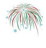 Christmas firework design. On white background Royalty Free Stock Photo