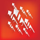 Christmas firework rocket icon. This is file of EPS10 format Royalty Free Stock Images