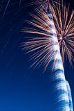 Christmas Fireworks background vertical image Royalty Free Stock Photo