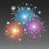 Christmas Fireworks Stock Images
