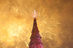 Christmas fireworks Royalty Free Stock Photography