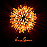 Christmas Fireworks Vector Background. Christmas Fireworks Vector. Ready for Your Text and Design Stock Image