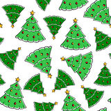 Christmas firs pattern seamless Stock Images