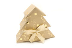 Christmas firtree gift box Royalty Free Stock Photography