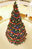 Christmas firtree in the mall Royalty Free Stock Photos