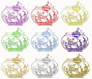 Christmas fish Royalty Free Stock Images