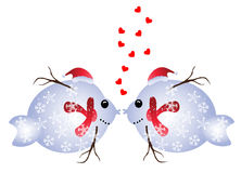 Christmas fish in love Royalty Free Stock Photography