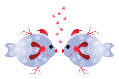 Christmas fish in love Stock Photo