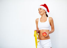 Christmas fitness Stock Images