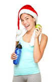 Christmas fitness woman Royalty Free Stock Photo