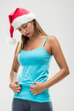 Christmas Fitness Woman Stock Photo