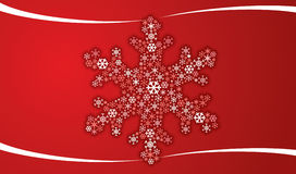 Christmas flake Royalty Free Stock Photos