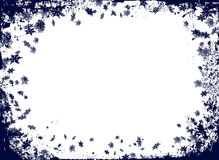 Christmas flake border Royalty Free Stock Photos