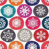 Christmas flake pattern Stock Photo