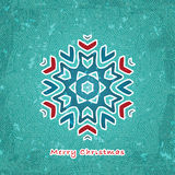 Christmas flake Royalty Free Stock Images