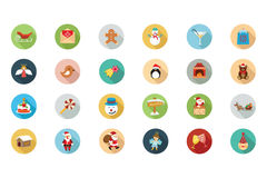Christmas Flat Colored Icons 2 Stock Photos