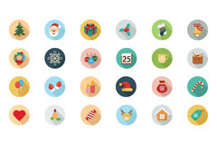 Christmas Flat Colored Icons 1 vector illustration