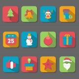 Christmas Flat Design Icon Stock Image