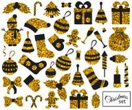 Christmas flat elements set. Vector illustration royalty free illustration