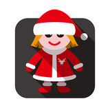 Christmas flat icon design Royalty Free Stock Images